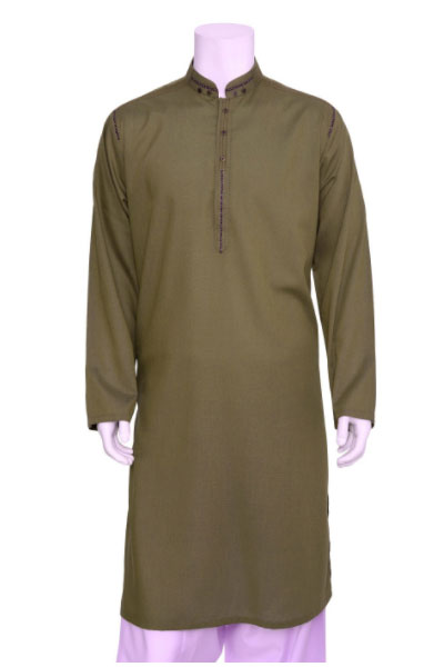 88d4a0bb64 Ideal for casual and formal events on the go, you can easily suit yourself  in this splendid brown kurta that comes with fashion band, placket with  slight ...
