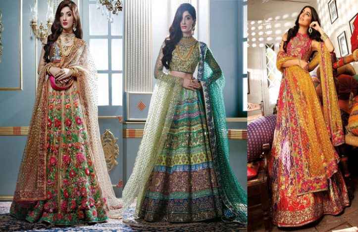 Mehndi Outfits 2018 : Best nomi ansari s bridal dresses latest collection