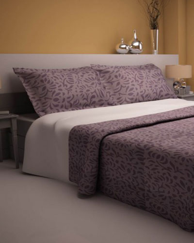 A Beautiful Shade Of Purple Enriched With Abstract Designs, This Bed Sheet  Has Been Paired Up With Two Standard Pillow Cases, Adding A Touch Of  Modernity ...
