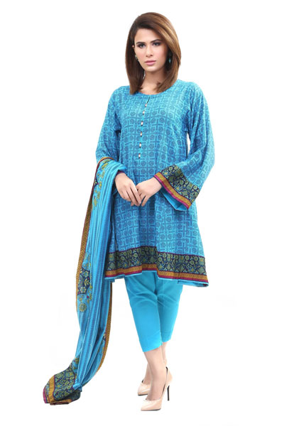 b35ba78914 Amuse yourself with this sky blue plain printed khaddar apparel that will  freshen up your soul and prepare you for an active day ahead.