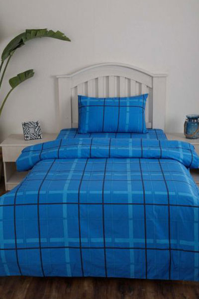 This Checkered Blue Shaded Bed Sheet Comes In A Single Size That Will  Perfectly Fit Over Your Kidu0027s Bed. It May Not Be Imprinted With Fun  Patterns But The ...